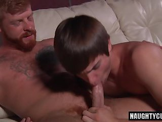 Big dick son oral sex and cumshot