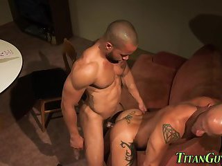 Muscly interracial studs