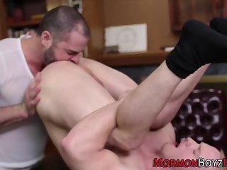 Gay mormon gets raw cock