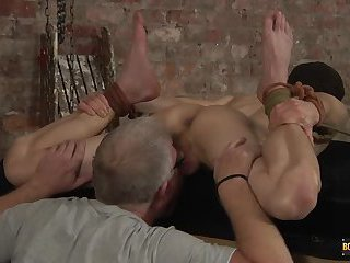 Roped Down & Exposed For Arse Play! - Jonny Pistol & Sebastian Kane