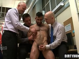 Muscle gay rimming and cumshot
