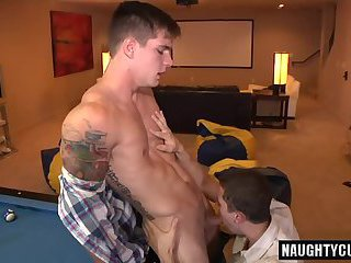 Big cock gay oral sex and facial