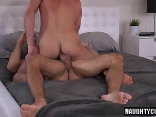 Luscious Gays Cock Riding Outdoor