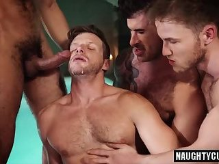 Gay gangbang cum movies