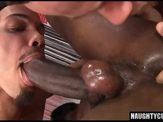 Latin gay threesome with cumshot