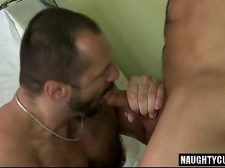 Hot gay anal rimming and cumshot