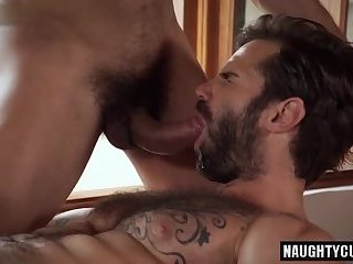 Latin bottom bareback and cum swap