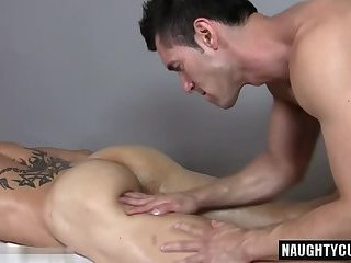 Hot gay handjob and massage