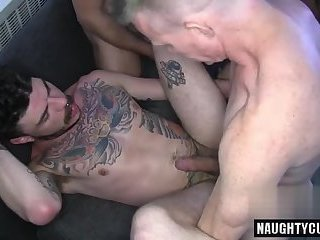 Tattoo gay anal and cumshot