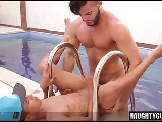 Brazilian gay anal sex with facial