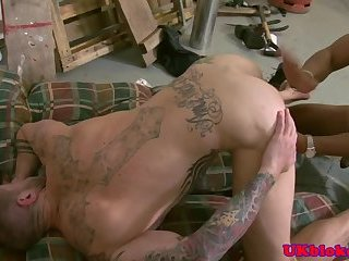 Rimjob loving stud screwed by fat cock