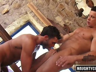Big dick gay flip flop with cumshot