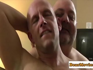 Mature chubs rimming ass and sucking cock