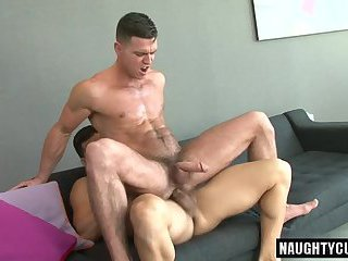 Hairy jock anal sex and cumshot