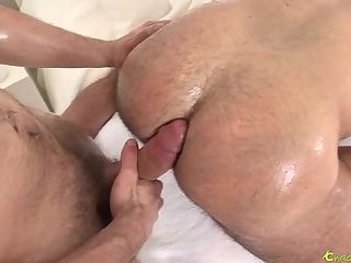hairy bareback with oil