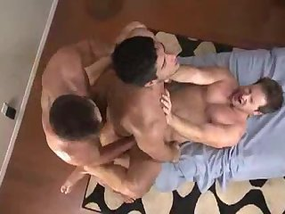 Massage ends with a threesome fuck