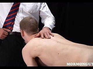 Cute twink mormon boy punish fucked
