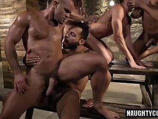 Hot gay hard fuck and facial