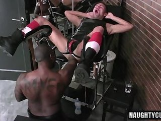 Hot jock double fisting and cumshot