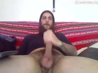 Married hotness edges his cock