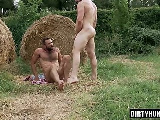 Muscle gay ass to mouth and creampie