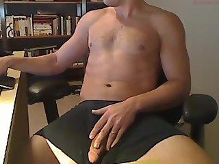 Wanking dick on camera