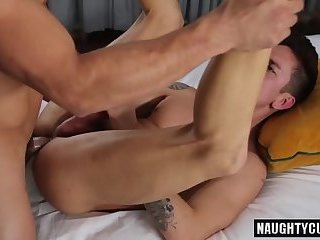 Latin gay anal sex with facial