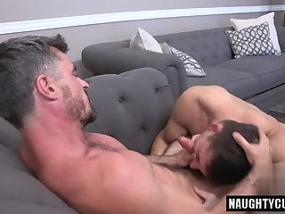 Big dick gay ass to mouth with facial