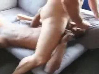 Ebony twink and mature guy fuck