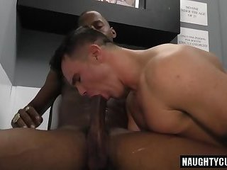 Big dick son threesome and facial cum