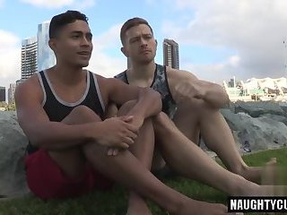 Latin gay flip flop and creampie