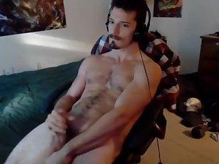 Furry young tummy gets a hot cum bath