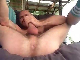 Cute and furry cocksman lobs a hot load