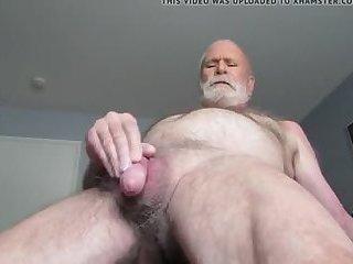 Grandpa rubbing his clit