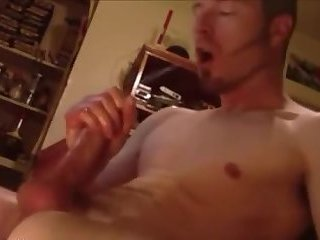Squirting my tasty cum into my own mouth
