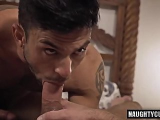 Big dick gay bareback with facial
