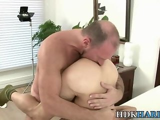 Hairy ass gets creampied