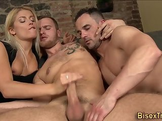 Bisexual stud rides cock
