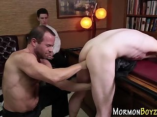 Bound mormon ass fingered