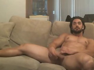 Very handsome muscle boy jerking off