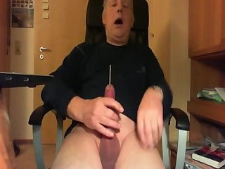 Sounding my Uncut Cock