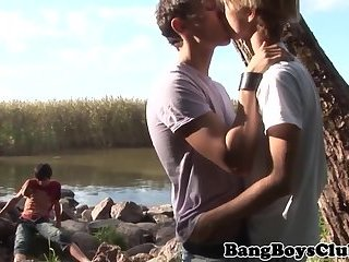 European bareback amateur assfucking outdoors