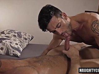 Big dick gay bareback and facial