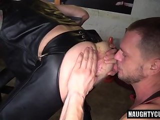 Hairy gay anal rimming and cumshot
