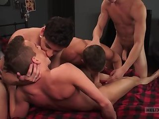 here bisex dude facialized in orgy very kind and passionate