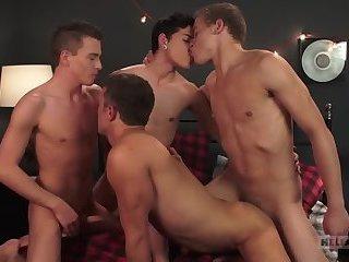 Four Play (Bareback) - Logan Cross, Brad Chase, Aiden Garcia