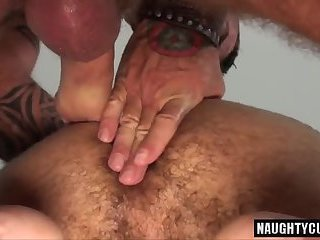 Hairy son oral sex with cumshot