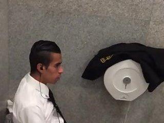 Peeping on my coworker jerking off during his break