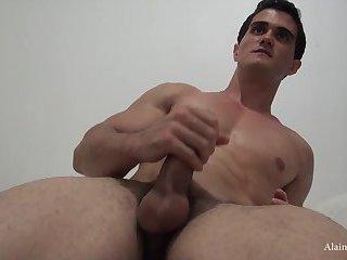 Ripped Muscle Jock Hairy Ass n Cum