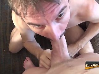 Gay hunk has raw anal sex